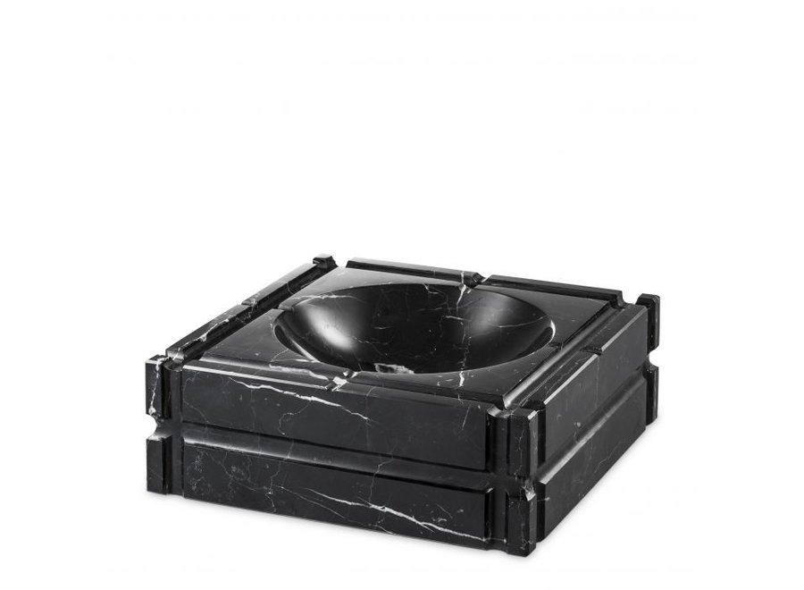 Ashtray 'Nestor'  zwart  marmer