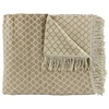 CLAUDI Plaid Colly Farbe Taupe