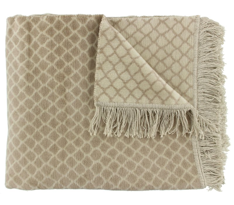 Plaid Colly Farbe Taupe