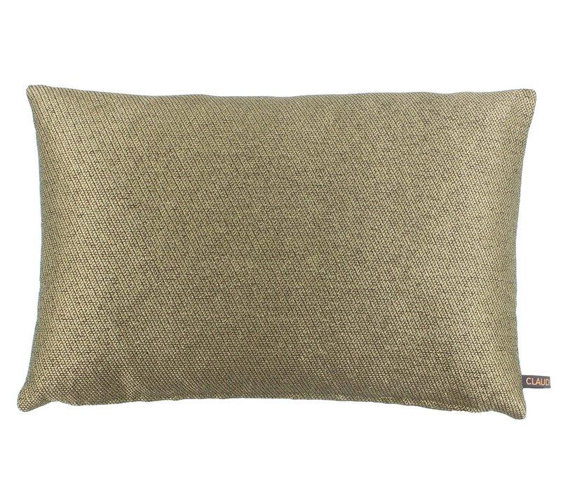 Throw pillow Diamo Color Dark Gold