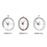Design wall clock 'Doble O g' in chromed steel diameter 70cm