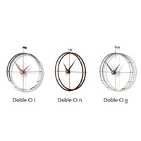 Design wall clock 'Doble O n' calabo wood diameter 70cm