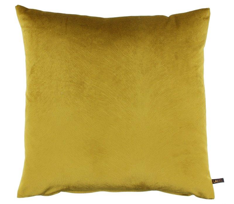 Throw pillow Perla color Mustard new