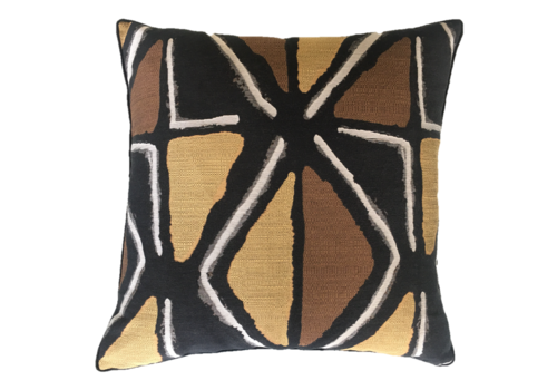 Leïlah Cushion Mudcloth Black