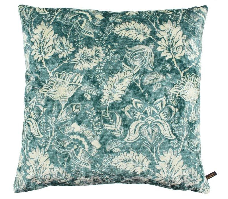 Cushion Etnic Flower Ice Dark Mint