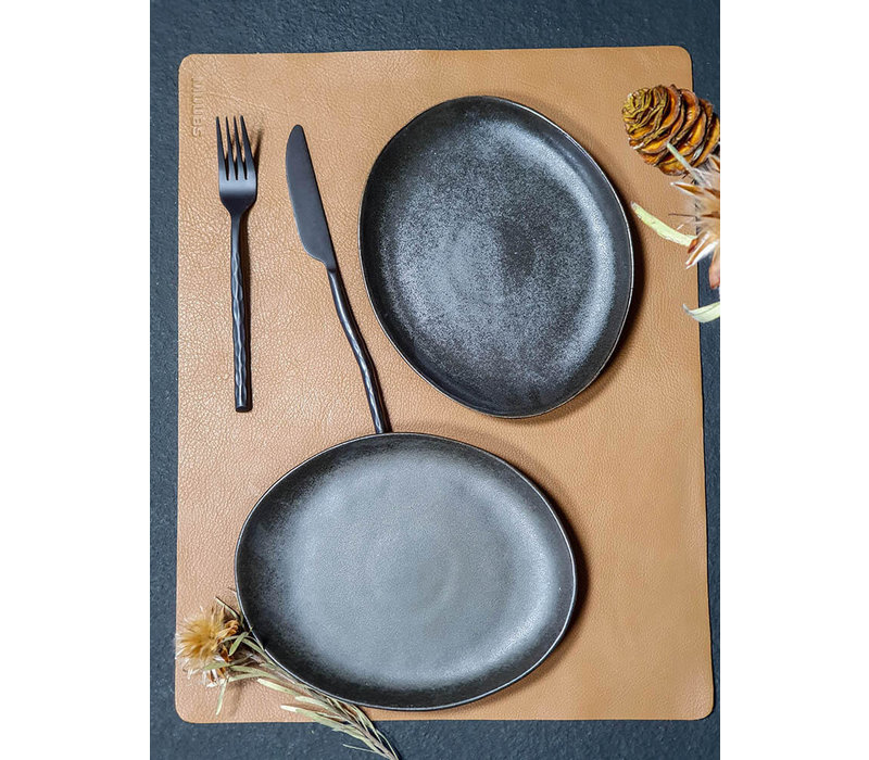Dinner plate 'Mame' - set of 2 - in the color Coffee