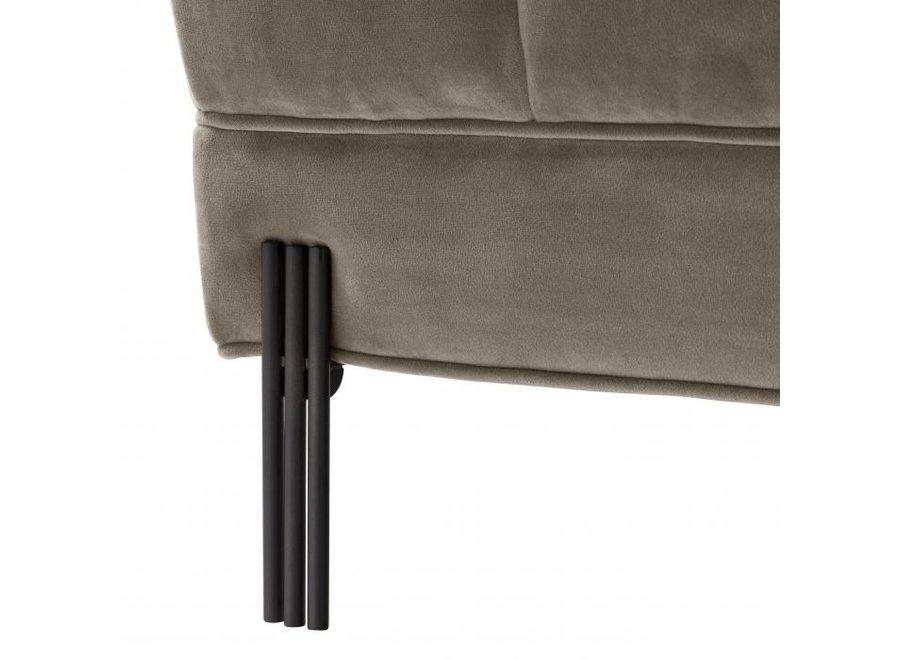 Bench 'Sienna' Greige Velvet
