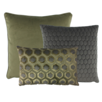 Cushion combination Olive/Dark Taupe: Imperiale, Honey & Astrid