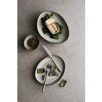 Dinerbord 'Mame' - set van 2 - in de kleur Oyster