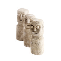 Sculpture Ray - set of 3 - height 15cm