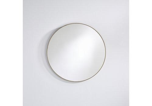 Deknudt round mirror 'Hoop' Bronze M