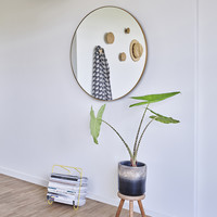 runder spiegel 'Hoop' Bronze M