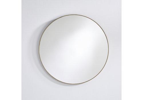 Deknudt round mirror 'Hoop' Bronze L