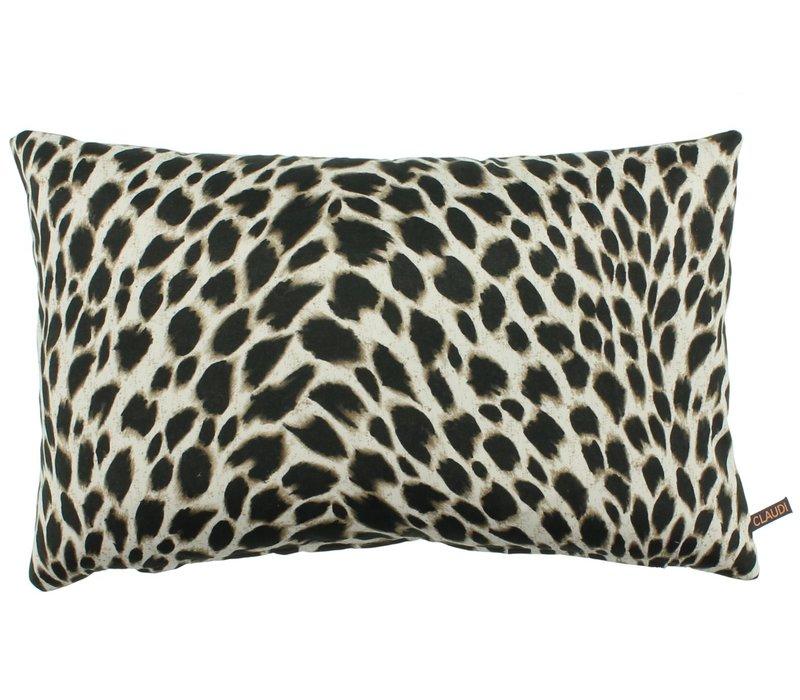 Throw pillow Marinda Cappuccino + piping