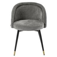 Esszimmerstuhl 'Chloé' 2er Set - Clarck grey