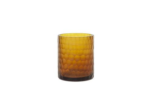 Dome Deco Glazen theelicht 'Amber'