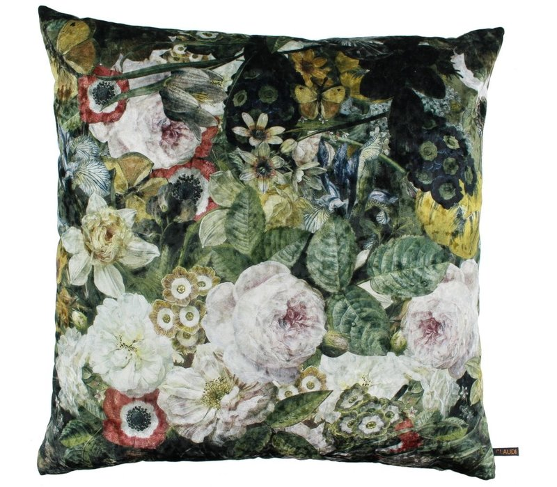 Kissen Flower Field Ice Dark Olive