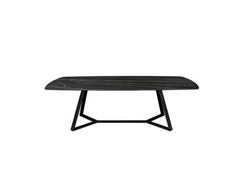 Dome Deco Dining table 'Gerona' - Thundernight Ceramic