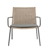 Lounge chair Riva - walnut / black - charcoal