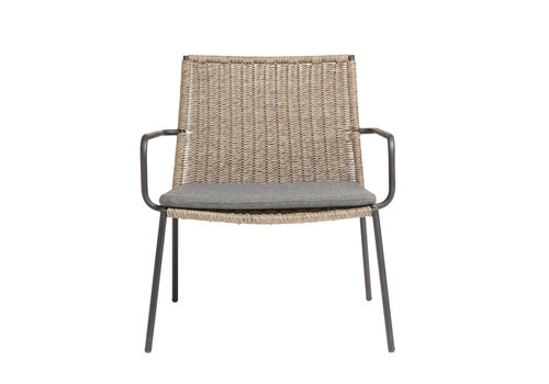 MUUBS Lounge chair Riva - walnut / black - charcoal