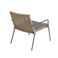 Lounge stoel Riva - walnut / black - charcoal