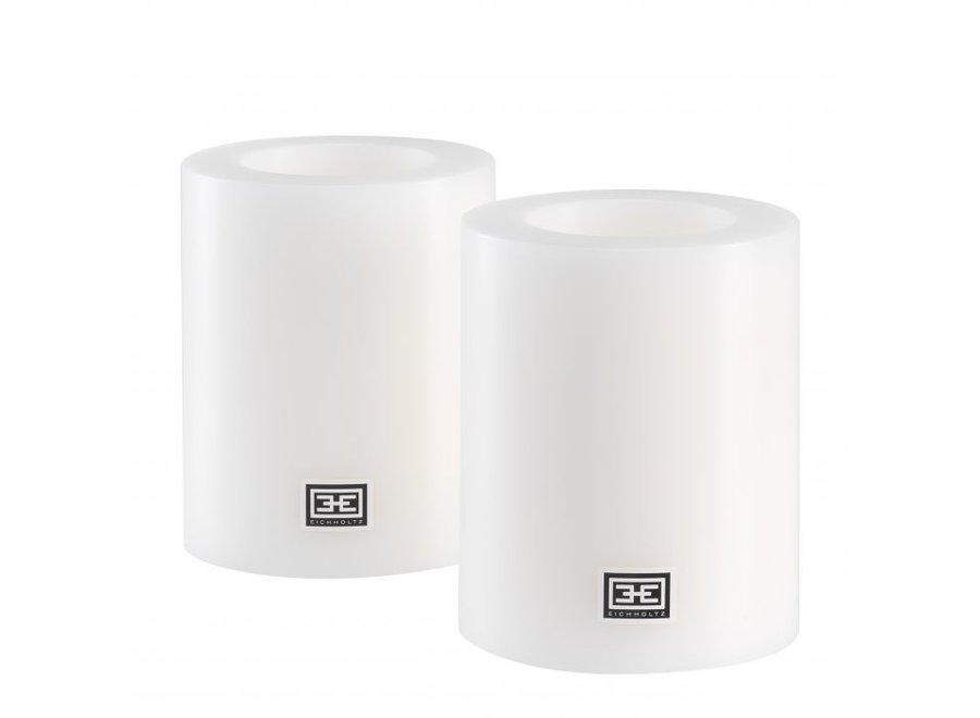 Kaarsen set S - 2 stuks - 12x10 cm