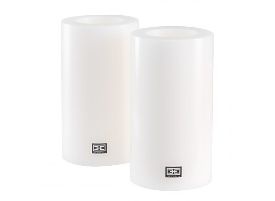 Kaarsen set L - 2 stuks - 10x18 cm
