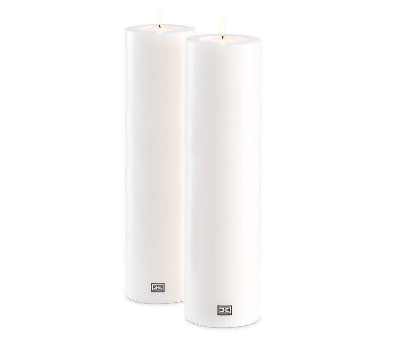 Künstliche Kerzen XL - 2 Stück - 12x45 cm
