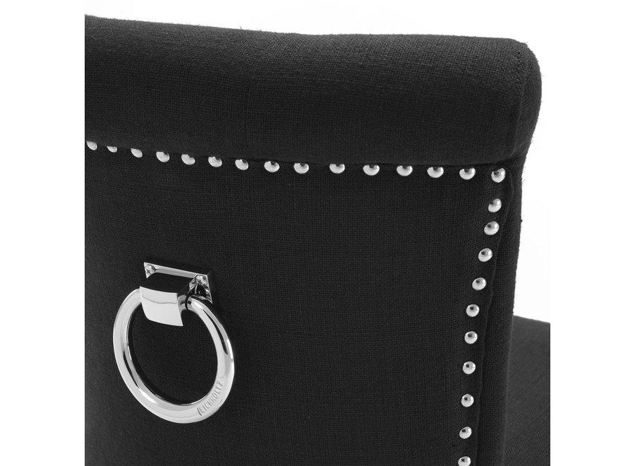 Eetkamerstoel 'Key Largo' - Black cashmere
