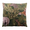 CLAUDI Cushion Bibi Tropical Safari Green