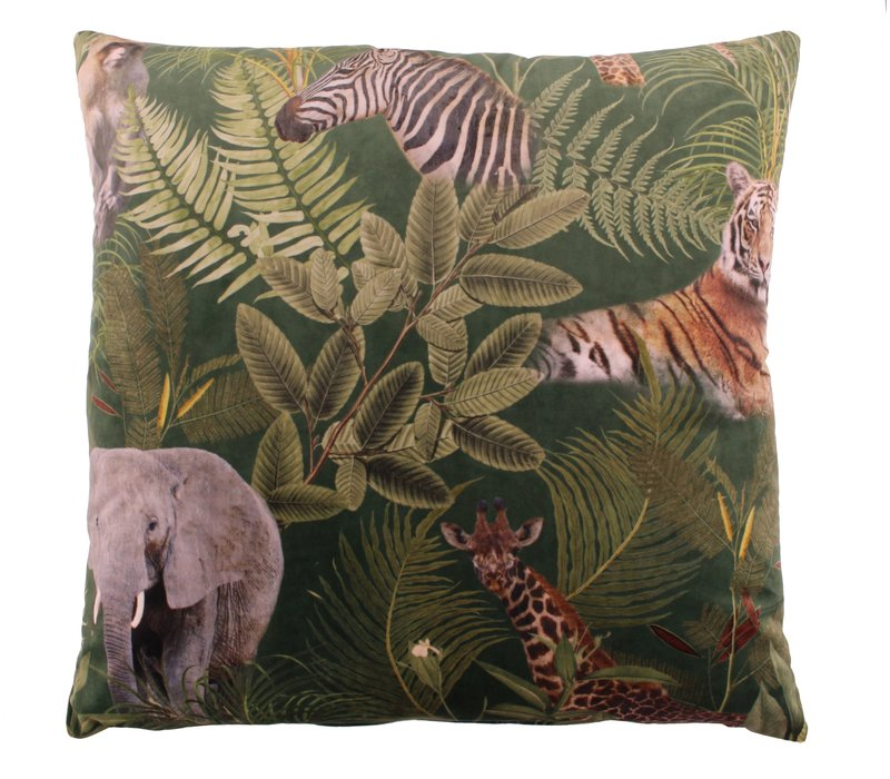 Cushion Bibi Tropical Safari Green