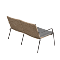 Garden bench Riva - walnut / black - charcoal