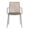 MUUBS Garden chair Riva - walnut / black - charcoal