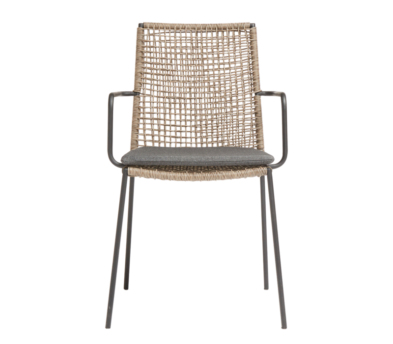 Garden chair Riva - walnut / black - charcoal