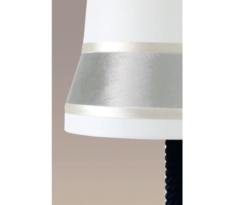 Design table lamp 'Audrey' large decorated with silk detail