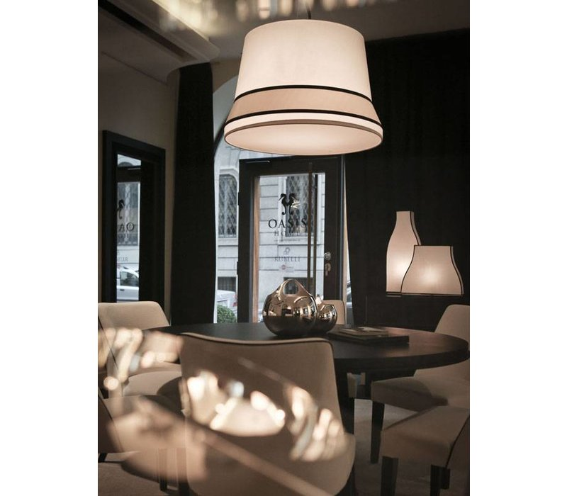 Design hanging lamp 'Audrey' large decorated with silk detail