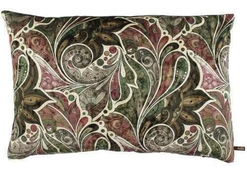 CLAUDI Cushion Paisley Garden Ice Olive