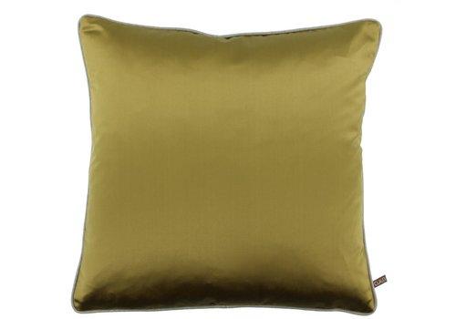 CLAUDI Cushion Dafne Mustard + Piping Sand