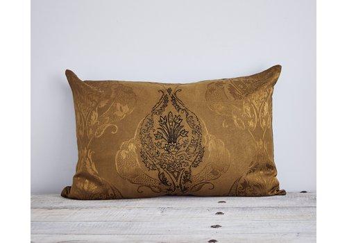 Leïlah Cushion Chati Damask Gold