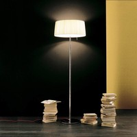 Floor lamp design 'Divina' with fabric shade, height 185cm