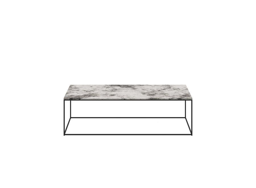 Coffee table 'Geneva' - Alaska Marble White