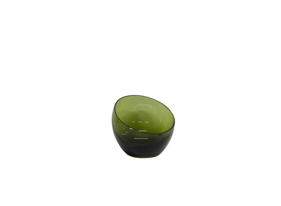 Glazen theelicht 'Bowl' - S