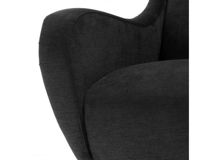 Fauteuil 'Giardino' Black Velvet