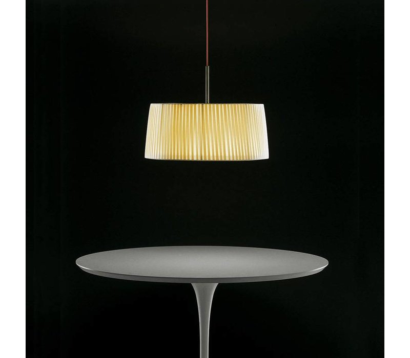 Pendant light 'Divina SO' with fabric shade.
