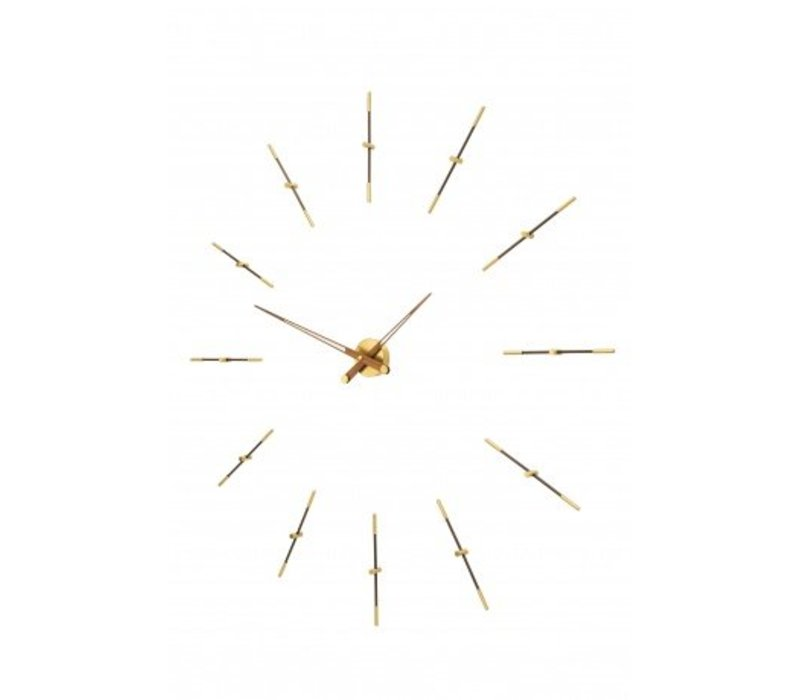 Große Wanduhr 'Merlín Gold n' in minimalistischen Design mit Gold Details