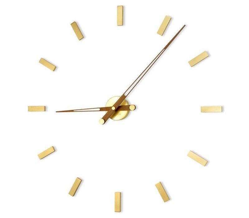 Large wall clock 'Tacón Gold N' 105cm