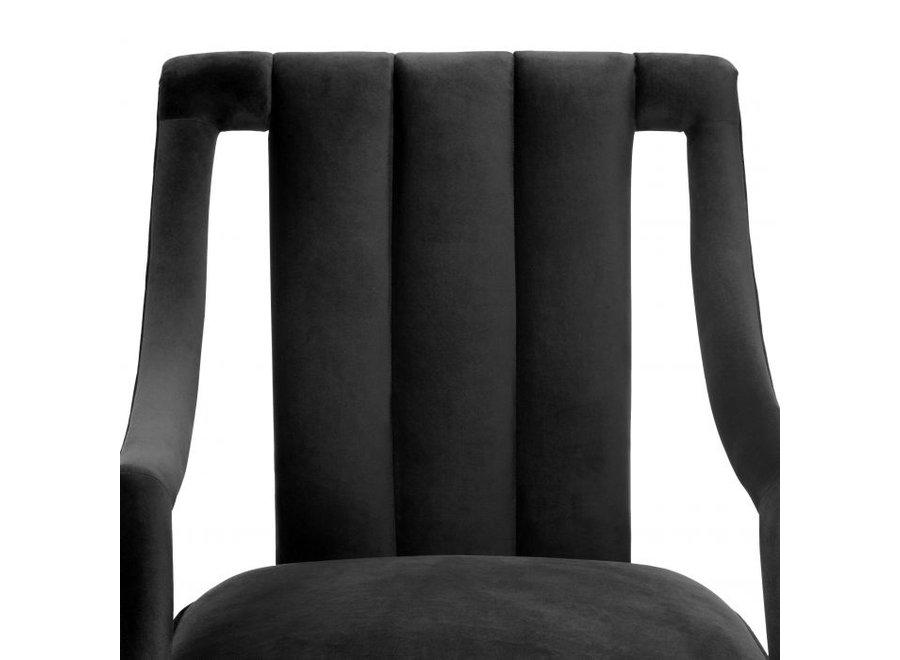 Fauteuil 'Ermitage' - Roche black velvet