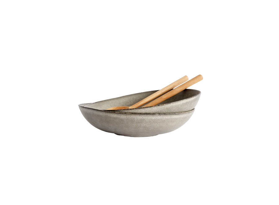 Salad bowl 'Mame' - XL - in the color Oyster