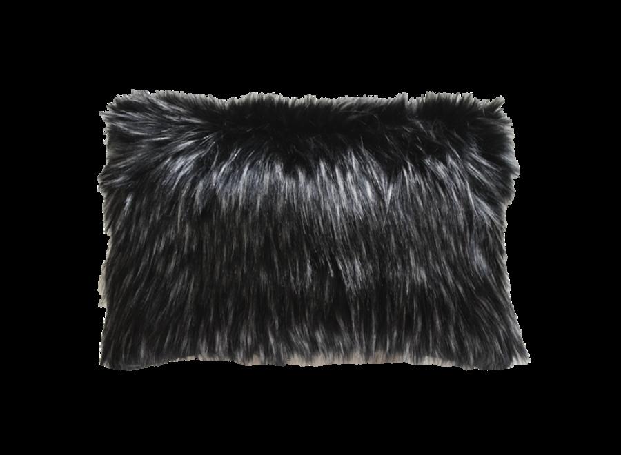 Bontkussen 'Ebony Plume'  45x45cm of 30x45cm