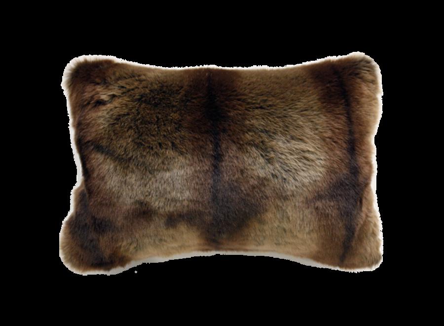 Bontkussen 'Striped Beaver'